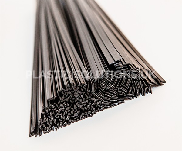 Welding thermoplastic strips