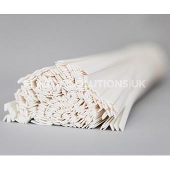 PVC rigid 8mm plastic welding rods flat shape 10 pieces